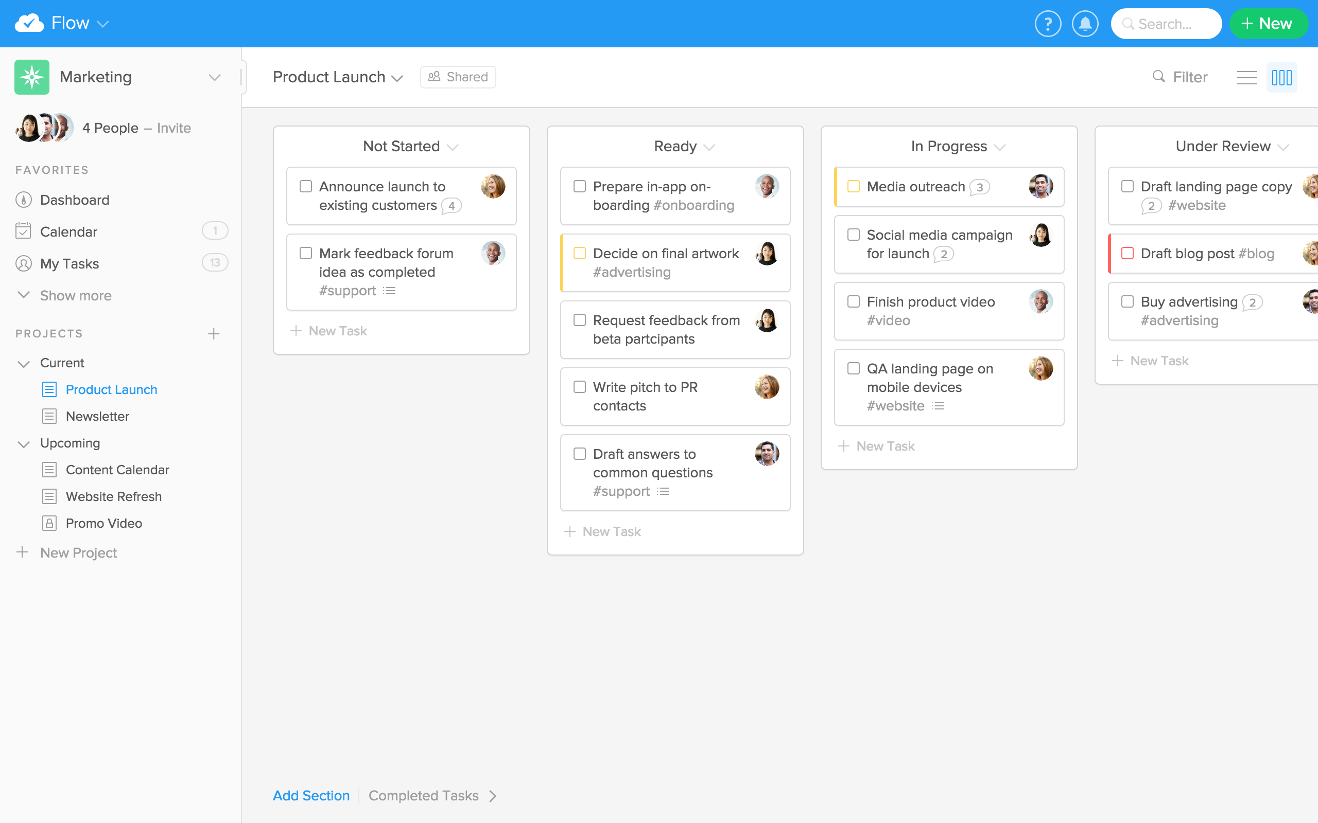 Visualize any project with Kanban Boards